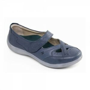Cello Ee Jane Mary Leather Ocean Padders Eee Wide Fit Womens Smooth Ladies Scarpe RWdgTBq6