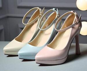 Scarpe Sposa Beige.Stiletto Scarpe Decolte Eleganti Sposa Donna Tacco 11 Beige Rosa