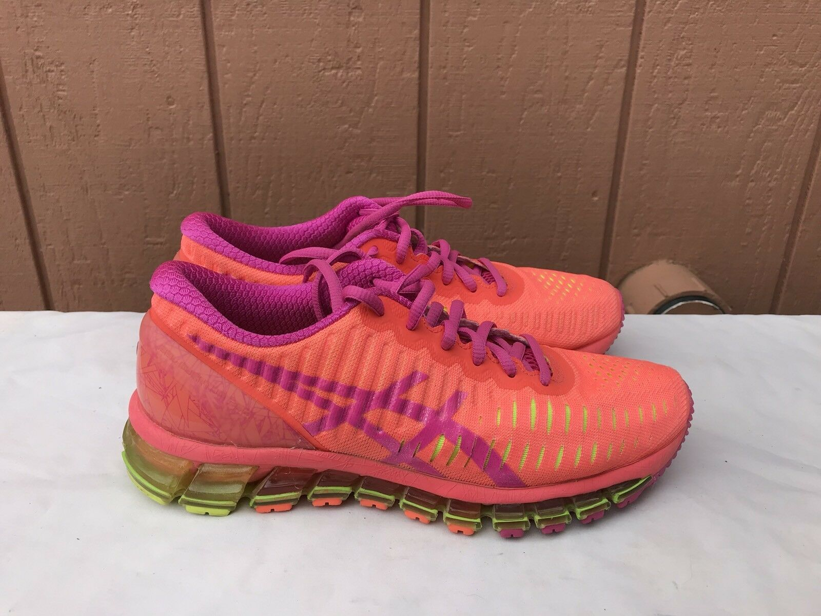 MINT Womens Asics Gel Quantum 360 US 7 Running Shoes Tennis T5J6N Pink Orange Cheap women's shoes women's shoes