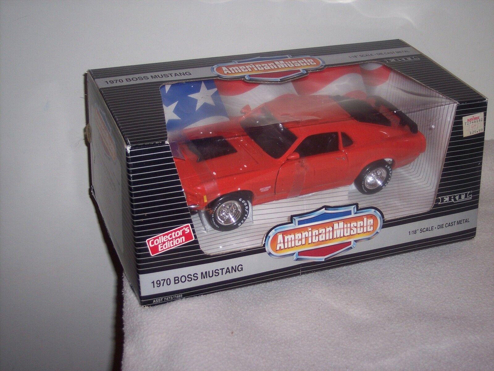 Venta en línea de descuento de fábrica American Muscle-Ertl-escala 1 18 - 1970 Boss Boss Boss Mustang-Dulce Ride-Nuevo En Caja  entrega gratis