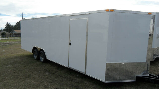 24' CAR HAULER ENCLOSED CARGO  AUTO RACE TRAILER 8.5X24 7000 LB GVWR