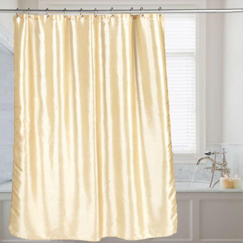 """Faux Silk Shimmer Polyester Fabric Bath Shower Curtain 70/""""x72/"""" 10 Color Choices"""