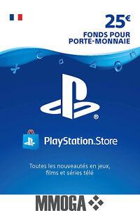 €25 EUR Carte PlayStation Network - 25 EURO PSN Code Jeu - Compte français - FR