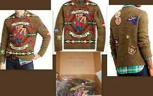 Stitched Size Details Mens L Nwt Ralph About Sweater Patches Bear Wool Polo Lauren W Hiking VpUSzqMG