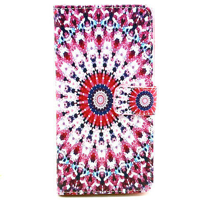 Leather Flip Wallet Stand Skin Case Cover For Alcatel Pop C5 One Touch OT 5036D