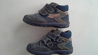 Kinder Schuhe Superfit grau/blau Größe 22 echtleder