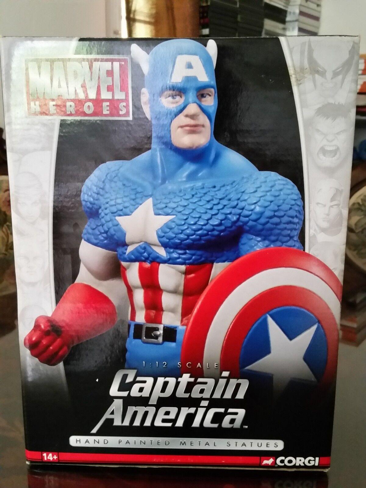 Captain america 13.12 uhr  kamelhaar skala metal statue corgi marvel avengers