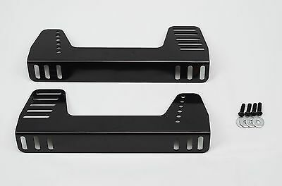 Black Steel Planted 90 Degree Universal Adjustable Side Seat Mount Sidemount
