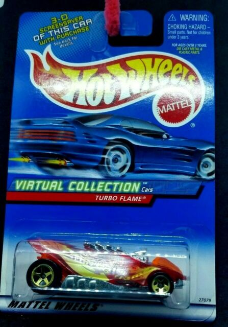 HOT WHEELS Turbo Flame Virtual Collection Red L/c