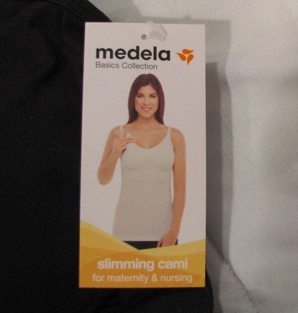 f1d43c1a98162 Medela Women s Slimming Nursing Cami Camisole Removable Pads Black Large Ne  for sale online