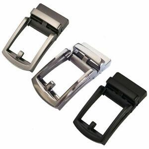 Men-039-s-Automatic-Slide-Buckle-Replacements-Metal-Ratchet-Leather-Belt-Buckles