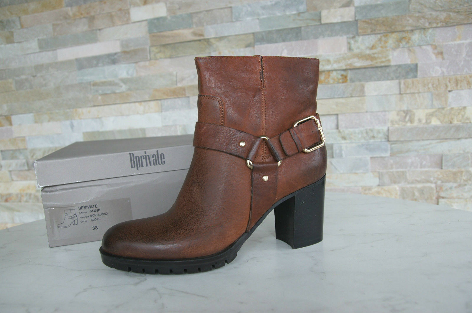 Bprivate Size 41 Ankle Boots Boots Ankle Boots shoes Brown New Previously