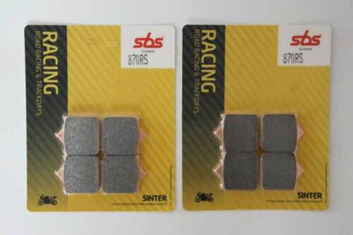 SBS 870 RS dos frases pastillas de freno bmw s 1000 rr a pair of two racing brake pads