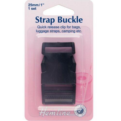 Hemline 25mm or 32mm 1 Pack Delrin Strap Webbing Buckles Side Release