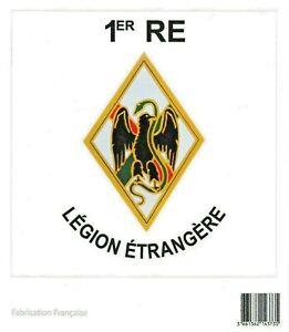 Autocollant-du-1-RE-1-Regiment-Etranger-Aubagne-LEGION-ETRANGERE-10-x-10-cm