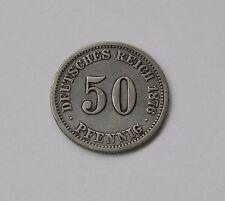 KAISERREICH: 50 Pfennig 1876 F, J. 7, sehr schön/vorzüglich