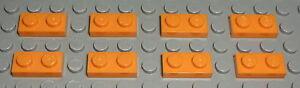 Lego Platte 1x2 Orange 8 Stück                                       (18)