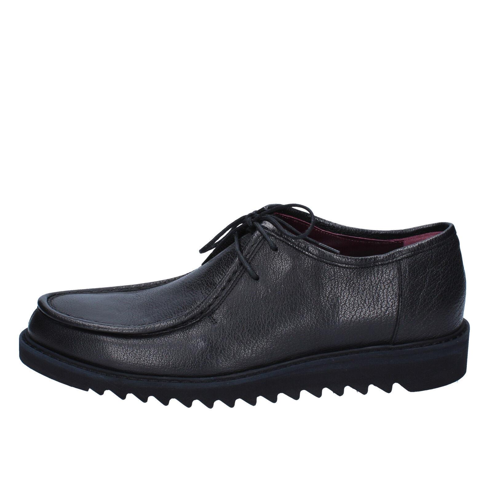 scarpe uomo ROBERTO BOTTICELLI 42 classiche nero pelle  BY588-42