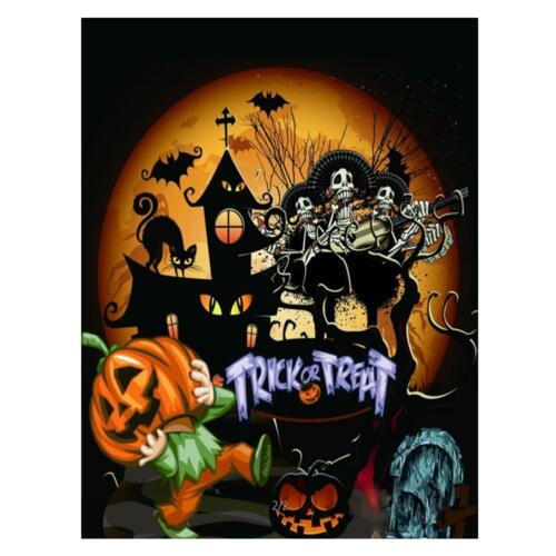 Halloween Full Drill DIY 5D Diamond Painting Cross Crafts Stitch Home Decor UK