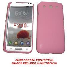 Pellicola+custodia BACK COVER RIGIDA ROSA per LG Optimus G Pro E985 E980 (B2)