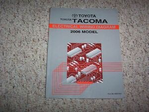 2006 Toyota Tacoma Truck Electrical Wiring Diagram Manual ...