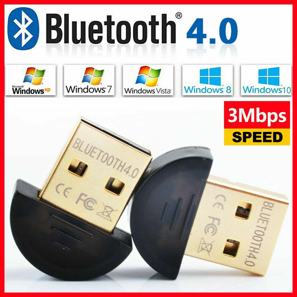 Nano Adaptador USB V4.0 Bluetooth Dongle compatible con PC Notebook Portatil