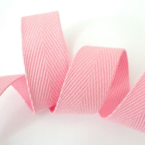 3m length HERRINGBONE WEBBING APRON TAPE 100/% COTTON 20mm lots of colours