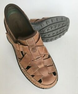 Timberland-men-039-s-sandals-leather-excellent-size-10B