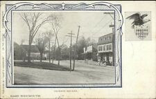 East Weymouth MA Jackson Square c1910 Postcard