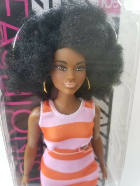 NEW! Barbie Fashionistas Doll #105 with Afro MINT IN BOX