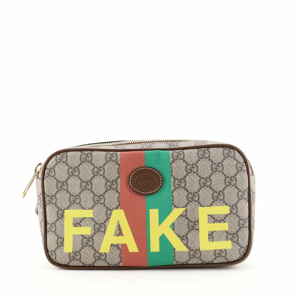 Gucci Fake/Not Zip Belt Bag Printed GG Coated Canvas 80    eBay
