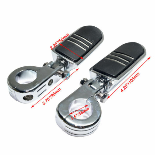 38mm Footrest Footpeg Mount Clamp Motorcycle Highway Frame Engine Bar For Harley