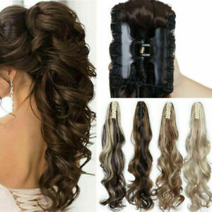 TOP-PONYTAIL-Jaw-Claw-Clip-in-Pony-Tail-Hair-Extension-Extension-Long-Hairpiece