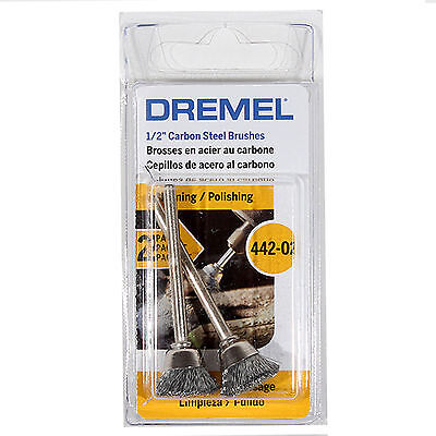 "DREMEL 442 ROTARY POWER TOOL 1//2/"" CARBON STEEL BRUSH  ATTACHMENT NEW SALE"