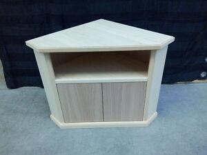 Porta tv ad angolo angolare con scomparti in legno grezzo | eBay