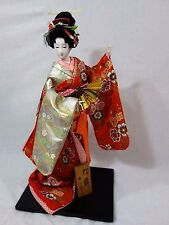 "Japanese Gofun Geisha Girl Doll On Stand  in full Garb - 24"" high - AWESOME!!!!!"