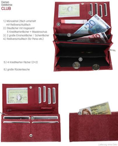 Geldbörse ALESSANDRO CLUB XL Damenbörse Damengeldbeutel Geldbeutel Reptil ROT