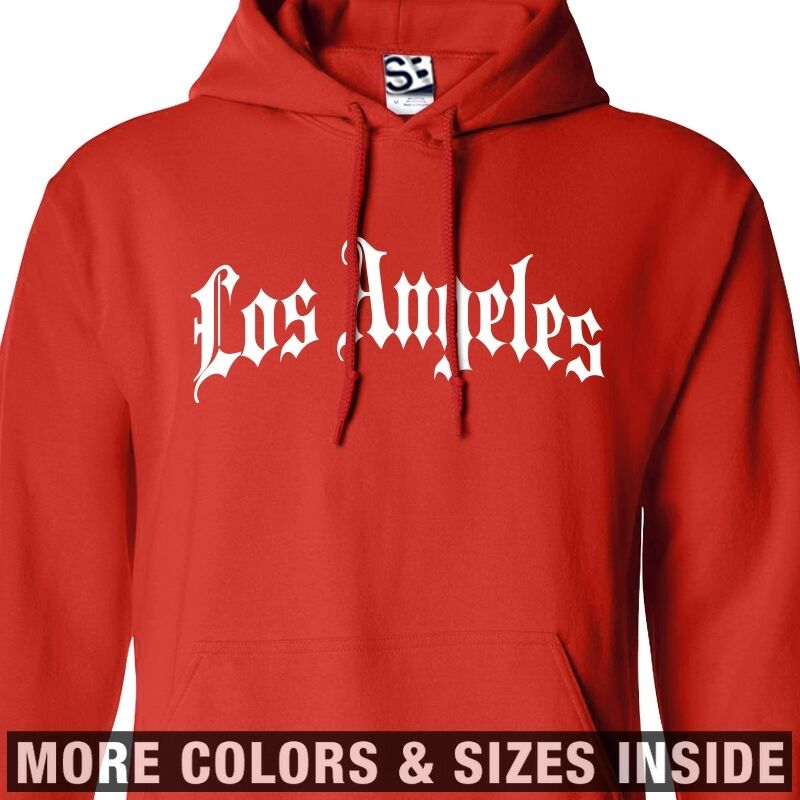 Los Angeles Thug HOODIE Gothic Old English Hooded Sweatshirt  All Größes & Farbes