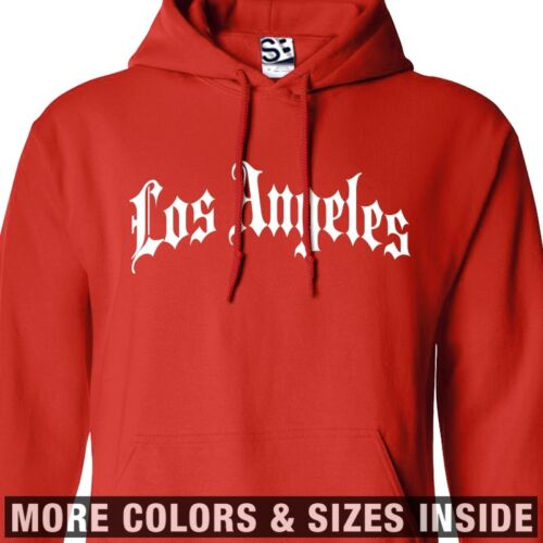 Los Angeles Thug HOODIE Gothic Old English Hooded Sweatshirt  All Sizes & Colors