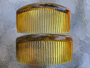 2ea-Rounded-Back-Hair-Combs-3-3-4-034-Made-in-USA-Good-Hair-Days-Your-Color-Choice