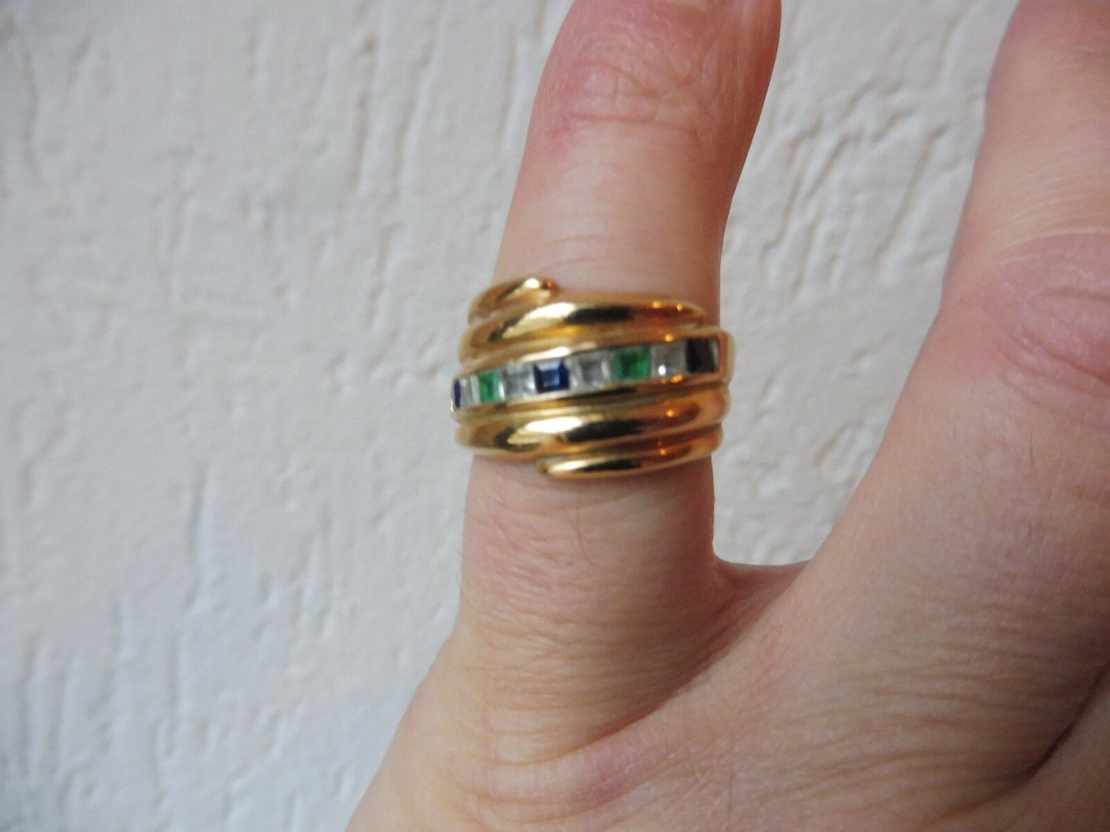 Schöner, alter Ring__925 silver vergoldet__mit geschliffenem Steinbesatz __