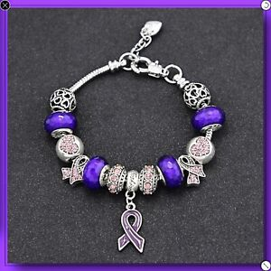 Details About Fibromyalgia Lupus Awareness Bracelet