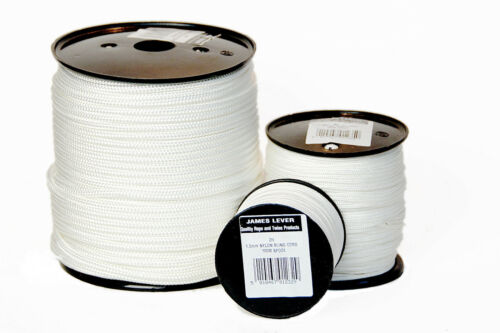 VARIOUS THICKNESSES /'EVERLASTO/' BRAIDED NYLON BLIND CORD LENGTHS  50 TO 200M