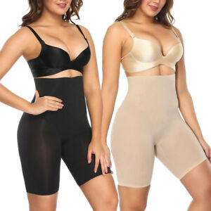 16a29477609 Image is loading High-Waist-Tummy-Control-Shapewear-Slimmer-Smooth-Slip-
