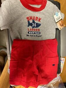 Size 6 Months NEW//NWT Carter/'s Baby Boys Shirt and Short Set
