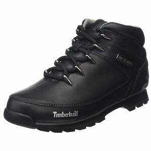 Euro Timberland Leather Mens Hiker Sprint Casual Ankle up Boots Lace Black d1rqw17