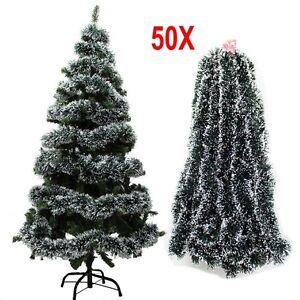 50X-2M-Tinsel-Guirlande-Vert-fonce-Arbre-de-Noel-Fete-Decoration-Maison-Decor