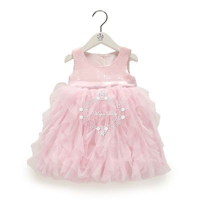 Flower Girl Sequin Tulle Tutu Baby Dress Princess Vintage Party Wedding Gift