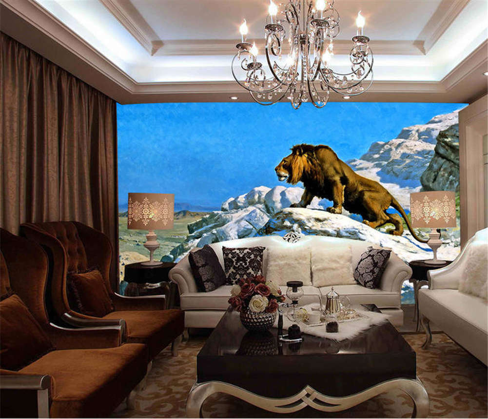 Fierce Happy Tiger 3D Full Wall Mural Photo Wallpaper Printing Home Kids Decor