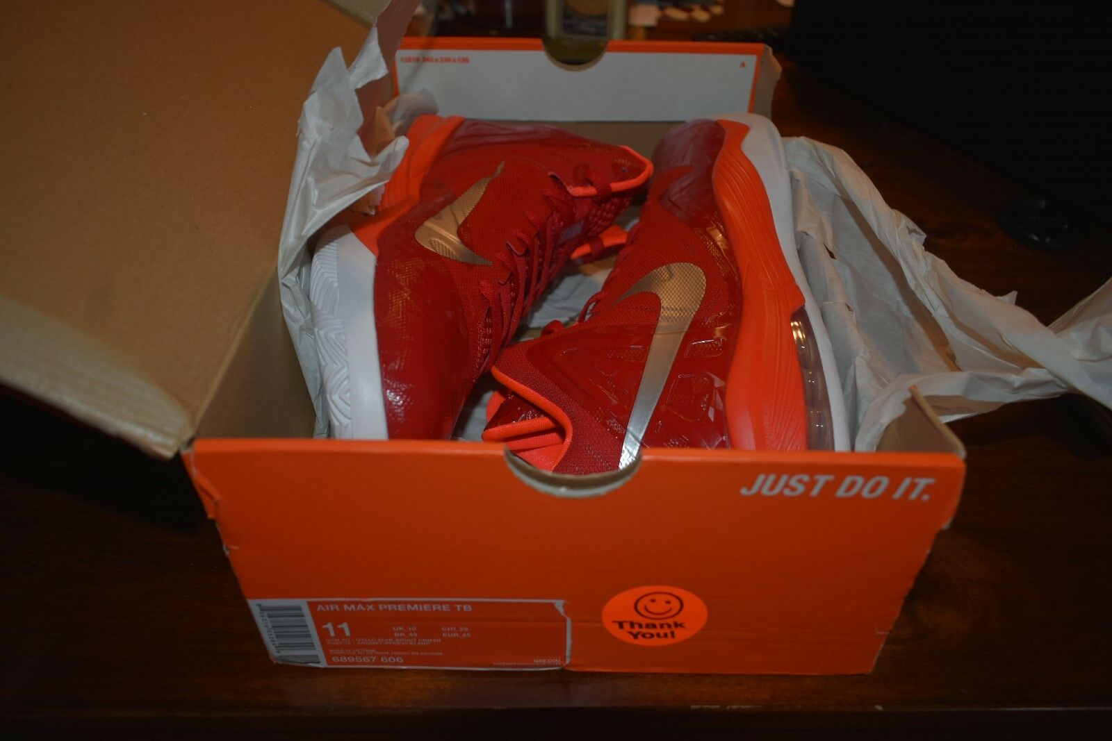 Nike Air Max Premiere Men Basketball Sneakers Size 11 Crimson (Red) 689567 606
